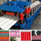Best Hydraulic Pressing Roof Color Steel Tile Roll Forming Machine in Blue for sale