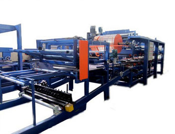 چین Colored Steel PU Sandwich Panel Production Line , Roof Panel Roll Forming Equipment کارخانه